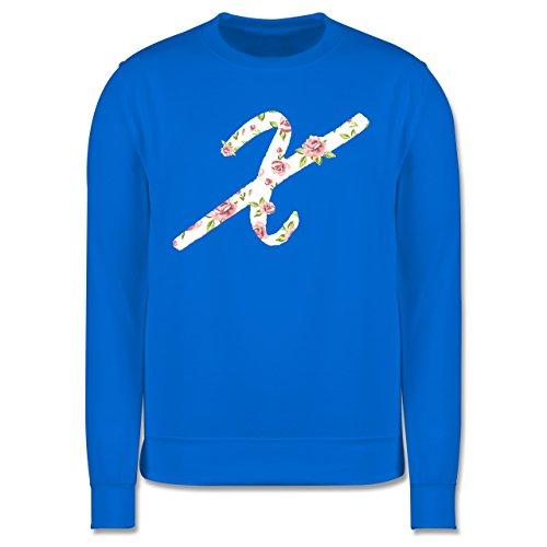 Anfangsbuchstaben - X Rosen - Herren Premium Pullover Himmelblau