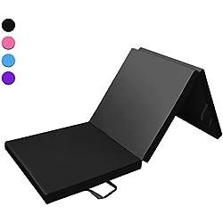 Prime Selection Products Espuma, triple plegable, 180x60x5 cm (color negro)