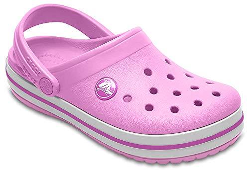Crocs Crocband Clog Kids, Zuecos Unisex Niños, Rosa (Party Pink), 25/26 EU