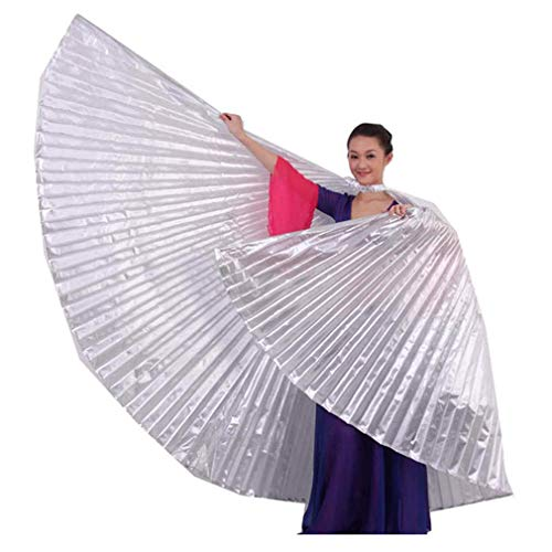 Damen Tanzen Kostüm Bauch - Likecrazy Flügel Schals Party oder Show Bekleidung Zubehör 1 STÜCK Ägypten Bauch Flügel Tanzen Kostüm Bauchtanz Cosplay Weiches Gewebe Bekleidung (Gold,one size)
