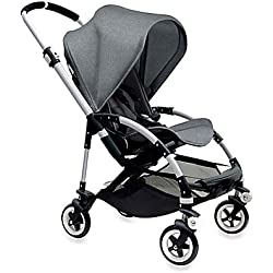 Bugaboo Bee3 Complete with Aluminum Base and Grey Melange Seat by Bugaboo