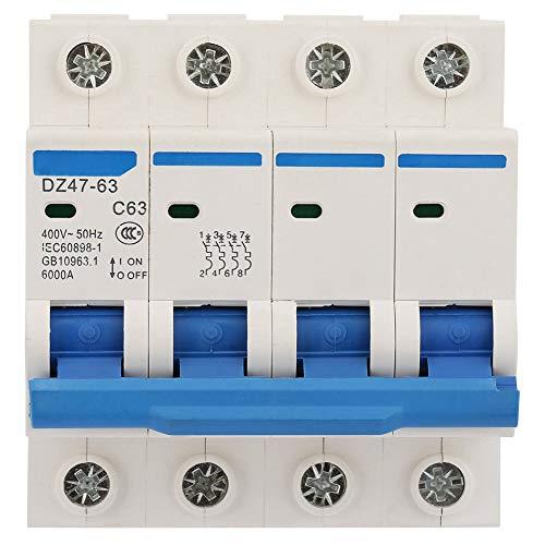 Protección contra fugas DZ47-63 Interruptor de aire de disyuntor de corriente residual...