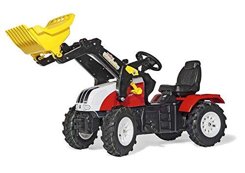 Trettrecker Rolly Toys 046331 rollyFarmtrac Steyr CVT 6240 | Traktor mit Lader | Trettraktor mit Luftbereifung, Sitzverstellung | Schauffellader/Frontlader mit Automatikverriegelung  | ab 3 Jahren