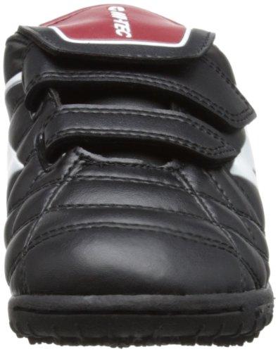 Hi-Tec League Pro Astro Ez Junior, Chaussures de Football Entrainement mixte enfant Noir (Black/white/red 021)
