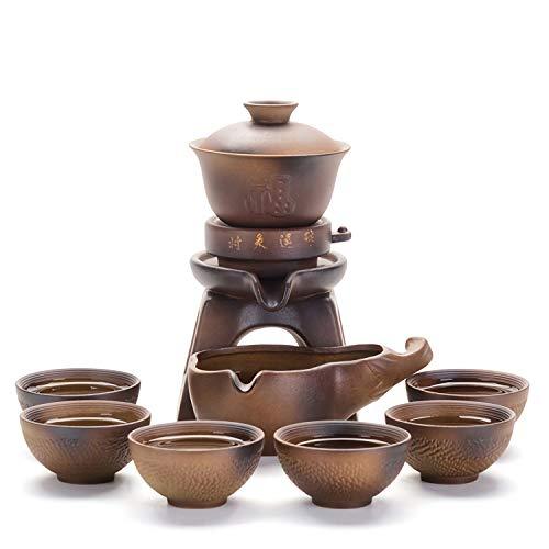 Original Chinesisch Teeservice Teekannen-Set Automatischer Teezubereiter Japan Teeset Porzellan in Geschenkbox Asiatisches Design