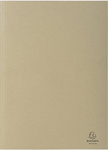 Exacompta 389010B Aktendeckel (Recycling-Karton, gerilltem Rücken, Kapazität bis 350 Blatt, 250g, DIN A4) 100er Pack grau