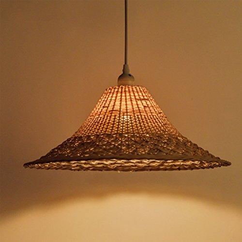 WYQLZ Kronleuchter, Kreative Persönlichkeit Hotpot Restaurant Bambus Kronleuchter Schlafzimmer Wohnzimmer Balkon Garten Rattan Lampe E27