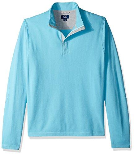 Cutter & Buck Herren Hewitt Lightweight Honeycomb Textured Half-Zip Sweatshirt Hemd, Aruba, XX-Large Half Zip Lightweight Pullover