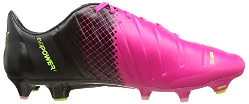 Puma Evopower 1 3 Fg, Chaussures de Football Homme Rose (Pink Glo/Safety Yellow/Black)