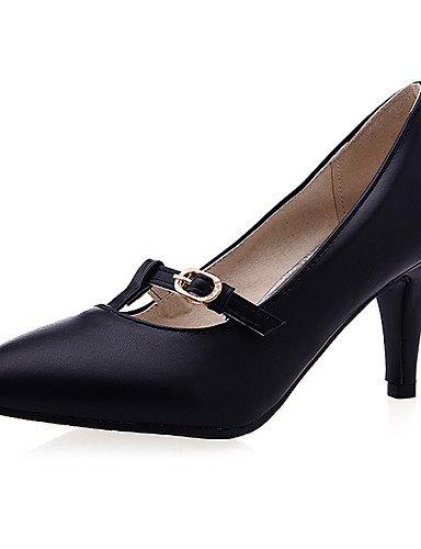 WSS 2016 Chaussures Femme-Décontracté-Noir / Rouge / Beige-Talon Aiguille-Bout Pointu-Talons-Polyuréthane black-us11 / eu43 / uk9 / cn44
