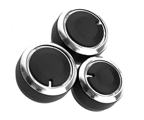Wisamic 3x Alu Drehknopf Klimaanlage Heizung Schalter Regler (Drehknopf Klimaanlage)