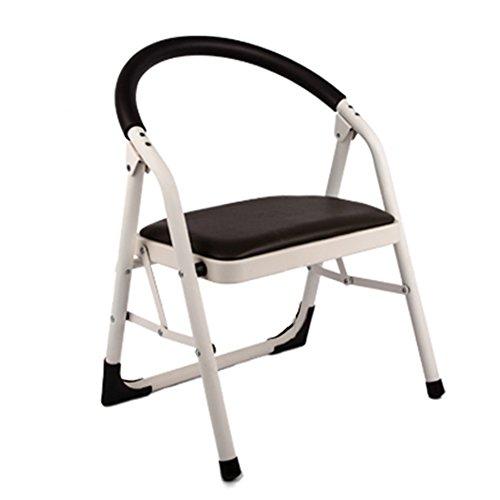 Treppenhocker TH Klappstufen Hocker-Schritt-zusammenklappbare Büro-Leiter, verdicken Stuhl-Innenstuhl-Konferenz-Treppen-Stuhl mit Antirutsch-Matte, Last 150kg (Farbe : Brown) - Konferenz-büro-stuhl