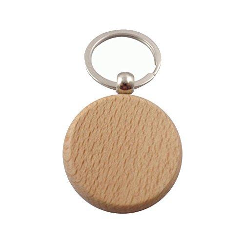 Meigold Holz Schlüsselanhänger Square Herz oval Schlüsselanhänger Tasche Anhänger Auto Anhänger Kreatives Geschenk