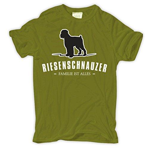Männer und Herren T-Shirt Riesenschnauzer - Familie ist Alles Größe S - 8XL Moosgrün