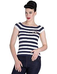 Hell Bunny T-Shirt Top Femme - Hailey Stripes Top