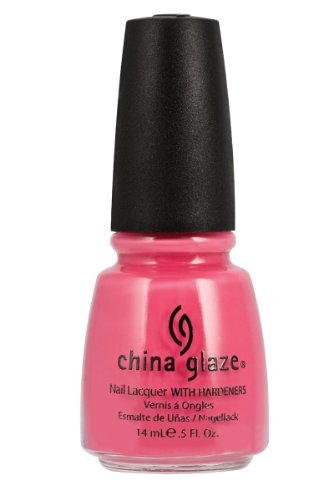 China Glaze Nail Lacquer with Hardner - Lacquered Effect - Sugar High, 1er Pack (1 x 14 ml) - China Pink Glaze