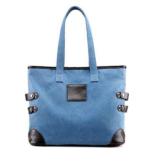 Ladies singola borsa a tracolla,borsa di tela,borsetta-Blu Blu