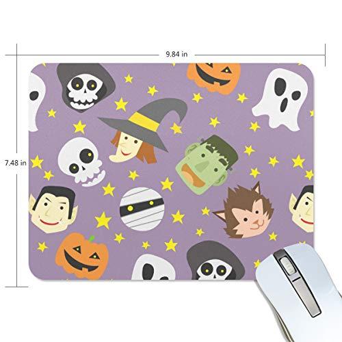 FANTAZIO Mauspad Happy Halloween Dicke Computer-Tastatur-Mauspad Anti-Rutsch-Gummi Unterlage Mauspad für PC Gaming oder Arbeiten (Happy Halloween Desktop)