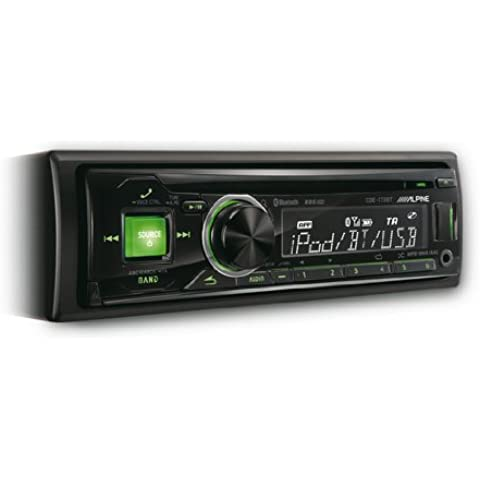 Alpine CDE-173BT - Radio para coches (200W, sintonizador CD/DVD, pantalla LCD, USB), negro