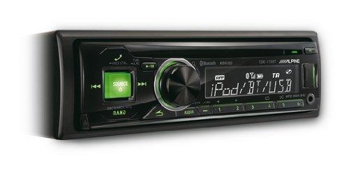 Alpine CDE-173BT - Radio para coches (200 W, sintonizador CD, pantalla LCD, USB, con Bluetooth, Front AUX-In), negro