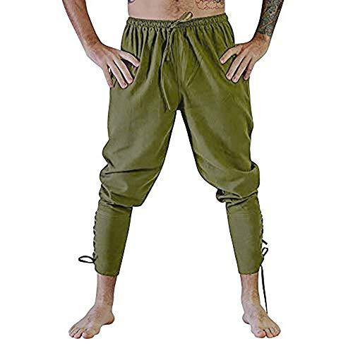 Hosen Herren Jeans,Shorts Herren,Jeans-Herren Slim Fit Basic Style Stretch-Denim Jeans-Hose,L,Armeegrün