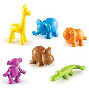Learning Resources- Locos por los Animales, Figuras de la Jungla, Juego de 72, Color (LER3361)