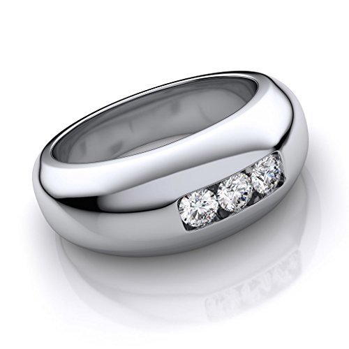 RM Jewellers 92.5 Sterling Silver American Diamond Best Brilliant Ring For Men (14)