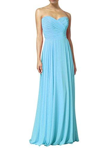 HWAN Frauen eine Linie Schatz Lange Kleid Brautjungfer Abendkleider Pool
