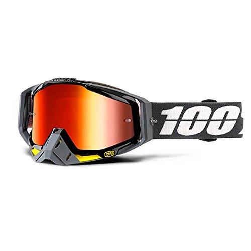 Preisvergleich Produktbild 100% Uni 50110-220-02 RACECRAFT Brille Fortis-Spiegel Rot Linse