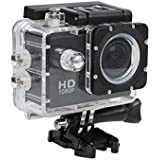 Piqancy 1080P 12MP Sports Action Camera With Micro SD Card Slot Action Video Camera 2 Inch LCD 170 Degree Wide Angle For All Smartphone
