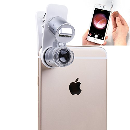 Generic Mobile Phone Microscope Macro Lens 60X Optical Zoom Magnifier Micro Camera Universal Clip LED Lenses For iPhone 5S 4S 6 Sumgung