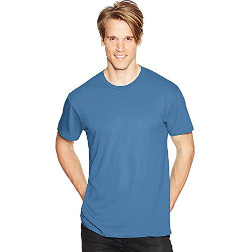 Hanes Men's Nano-T-Shirt_Denim Blue_L (Life Denim Shirt)