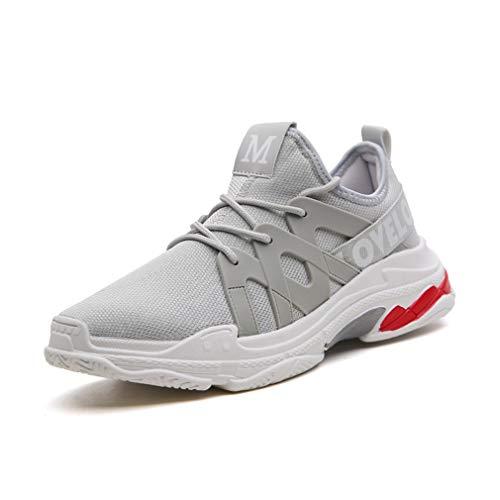 Exing Chaussures pour Hommes New Trend Athletic Mesh Respirant Chaussures décontractées/Academy Little White Shoes/Course à Pied/Randonnée/Camping/Foot Basket Sports /