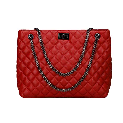 WZXHN Umhängetaschen Frauen Luxusmarke Frauen Handtaschen Casual Kleine Weihrauch Wind Tragetaschen Grid Chain Bag Damen Schulter Messenger Bag @ Red - Design-weihrauch-set