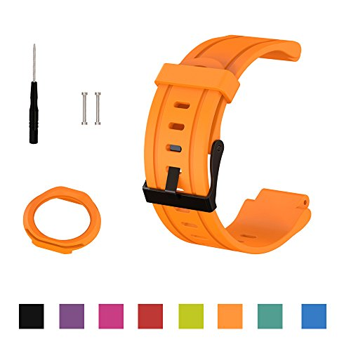 Cyeeson Garmin Forerunner 225 GPS Running Classic Replacement Armband Weiche Silikon Adustable...