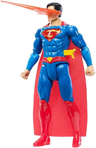 Mattel GFF36 DC Justice League 30 cm True-Moves Deluxe Figur Superman mit Licht und Geräuschen, Spielzeug ab 4 Jahren