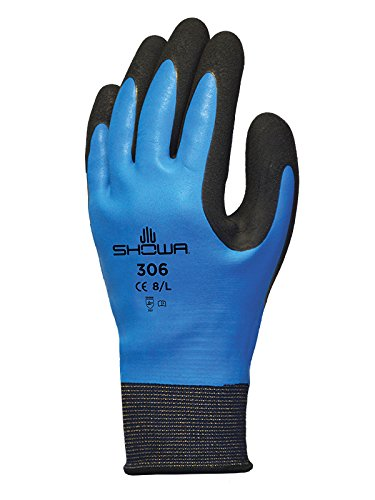 Showa SHO306-L - Guanti, taglia L, colore: blu/nero, 1 paio