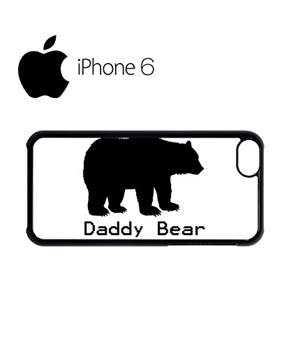 Daddy Bear Christmas Swag Mobile Phone Case Back Cover for iPhone 6 Black Noir