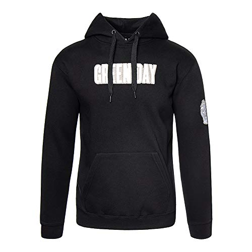 Green Day Classic Band Logo Grenade Hoodie Sweatshirt Applique Motifs S Band Sweatshirt