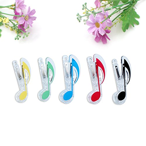 EFORCAR 5pcs Music Note Clip Clip-Buch-Seite Clip, Kunststoffe Musik stationär