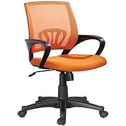 Sedia reclinabile girevole scrivania regolabile con braccioli poltrona arancio