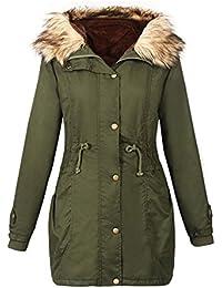 d2e2f81ce09 Sunsoar Lady Women Warm Winter Long Jacket Long Sleeve Coat Parka Outwear  Hooded