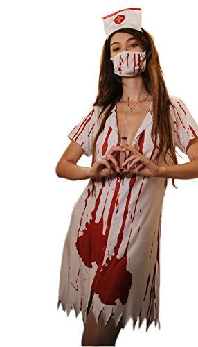 Befox Zombie Krankenschwester Halloween Kostüm Frauen/Fancy Dress/Nurse Outfit (Nurse Fancy Dress Kostüm)