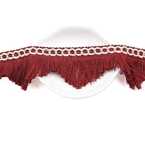 Cinta borla algodón vintage 2 m flecos encaje manualidades