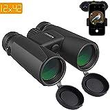 BUDDYGO Fernglas 10x42 kompakte Ferngläser für Vogelbeobachtung, Wandern, Jagd, Sightseeing, Kleines Fernglas mit Nachtsicht-Funktion.Tragetasche und Smartphone-Adapter