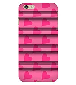 Fuson The Pink Heart pattern theme Designer Back Case Cover forApple iPhone 6S -P-1498