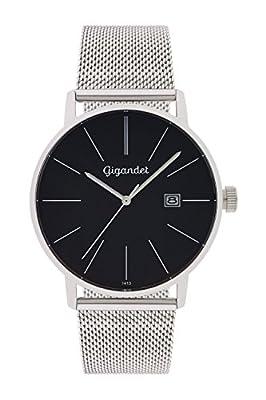Gigandet Reloj Hombre Cuarzo Minimalism Analógico Correa de Acero Plata Negro G42-006 de Gigandet
