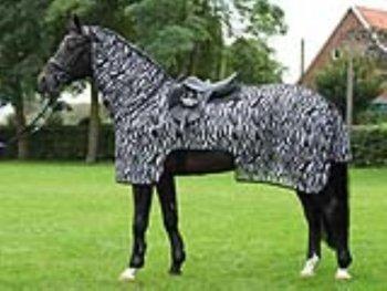 BUSSE everline Ausreitdecke MOSKITO ZEBRA II Rückenlänge 145 cm, zebra