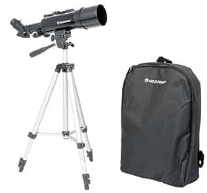 Celestron 822037 TravelScope 60 Telescopio con oculare da 20mm, zoom 18x