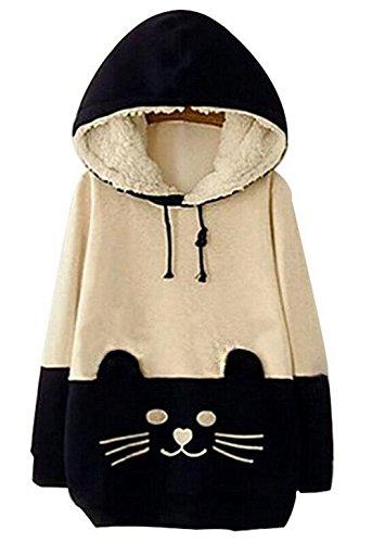 arrowhunt-womens-girls-cartoon-cat-fleece-hooded-pullover-sweatershirt